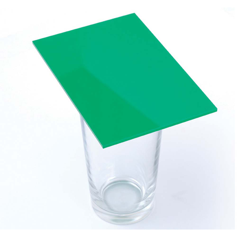 Cast Acrylic 3mm Sheet - Solid Green 1000 x 600mm | Green