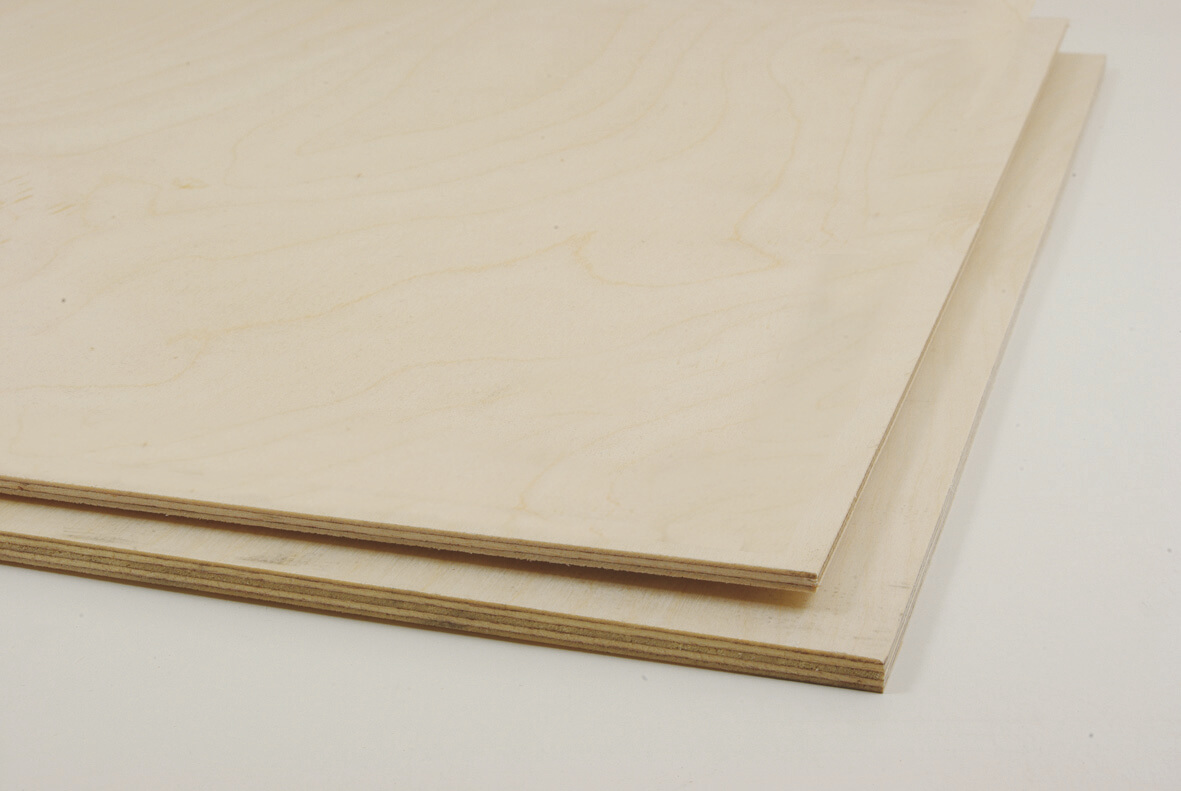 Birch Plywood Sheets - 600 x 400 x 6mm - Pack of 10 | Birch