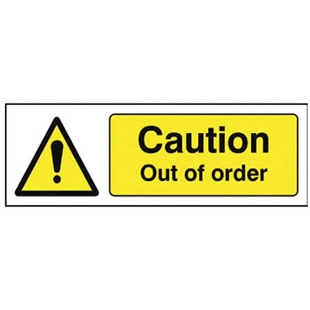 Caution Out of Order R/P 300 x 100mm
