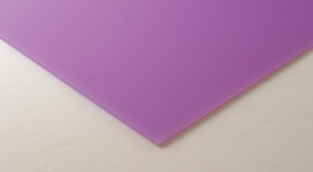 Frosted Cast Acrylic 4mm Sheet - Parma Violet 1000 x 500mm