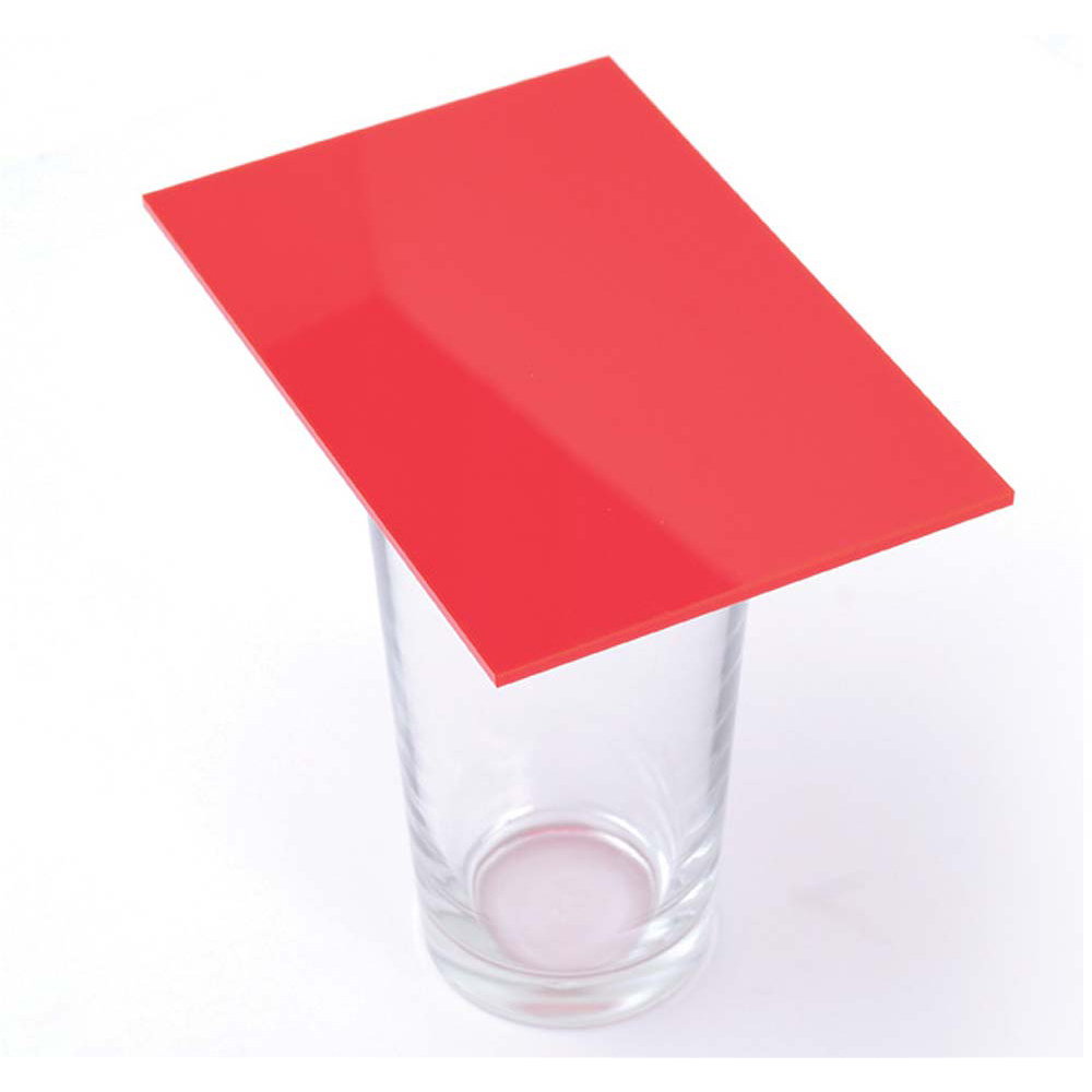 Cast Acrylic 3mm Sheet - Solid Flame Red 1000 x 500mm