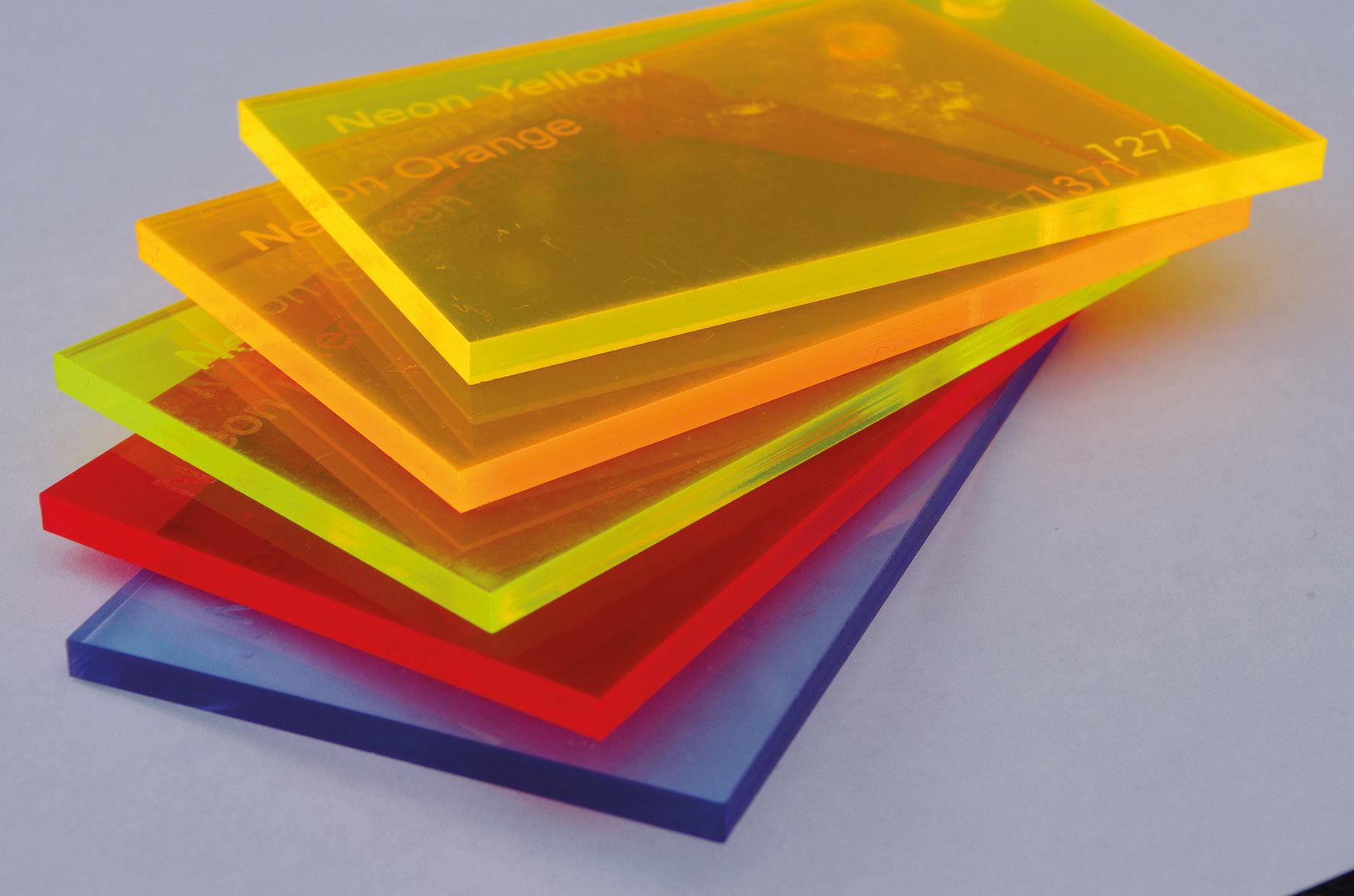 Fluorescent Cast Acrylic 3mm Sheet - 600 x 400mm Assorted ...