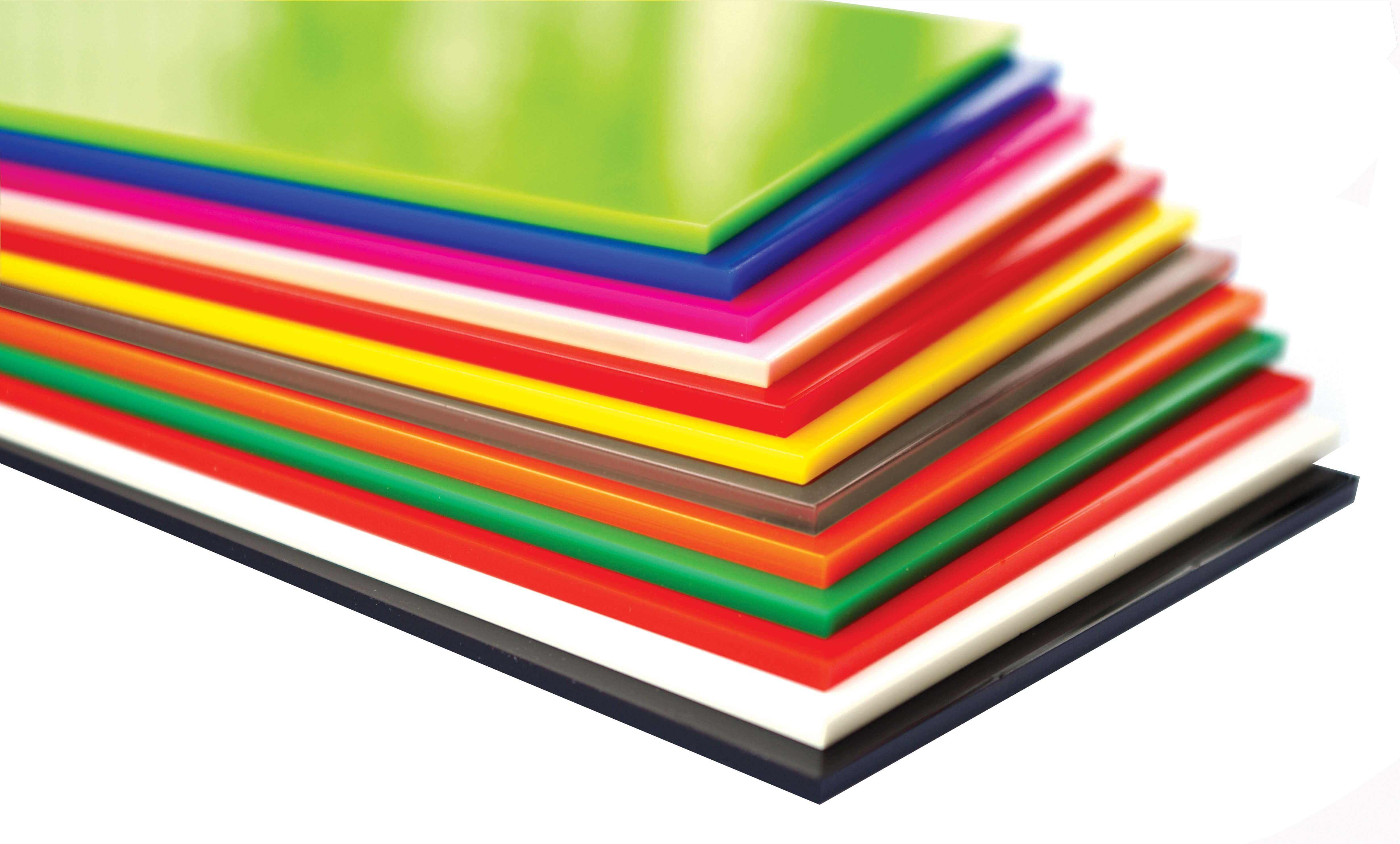 **Cast Acrylic 3mm Sheet - 600 x 400mm Assorted Pack of 12