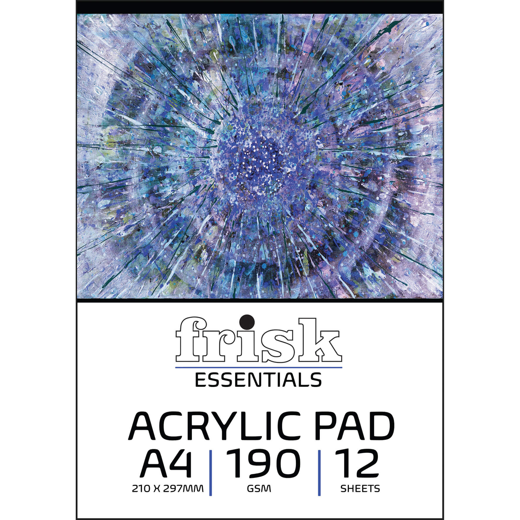 Acrylic Painting Wiro Pad A4 240gsm - 12 Sheets
