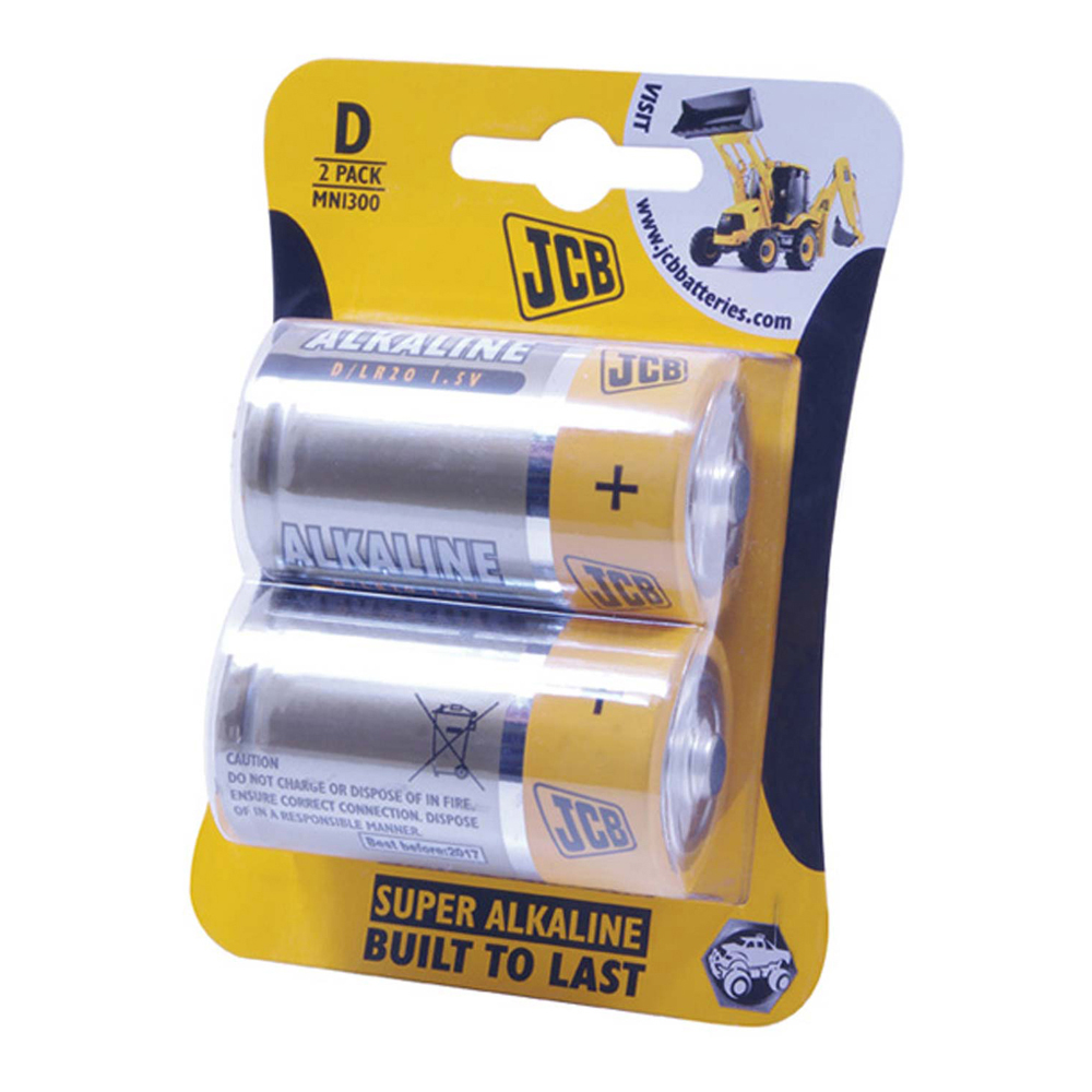 JCB Alkaline D Battery - Pack Of 2