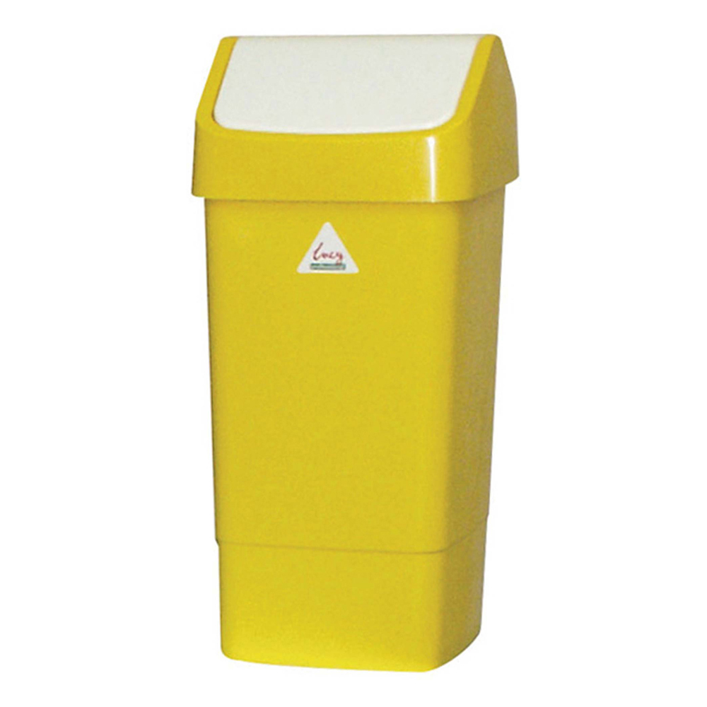 Swing Top Bin - Yellow