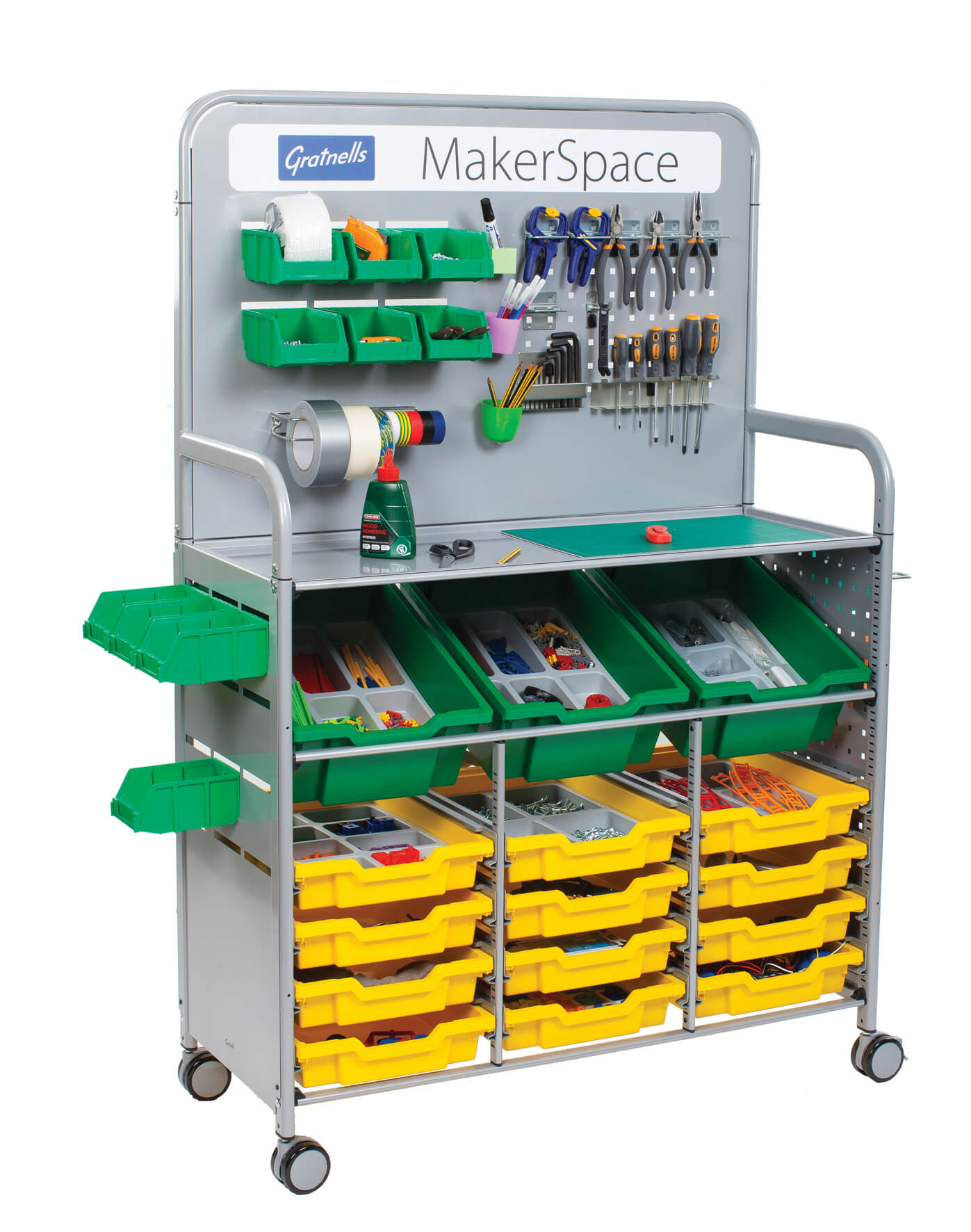 Gratnells MakerSpace Trolley H1565mm x W1025 x D430