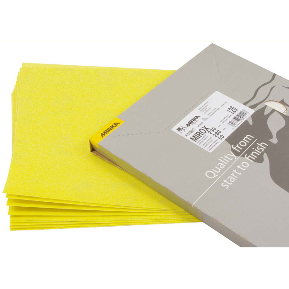 Mirka Abrasive Mirox Sheets (230 x 280mm) - 240 Grit (Pack of 50)