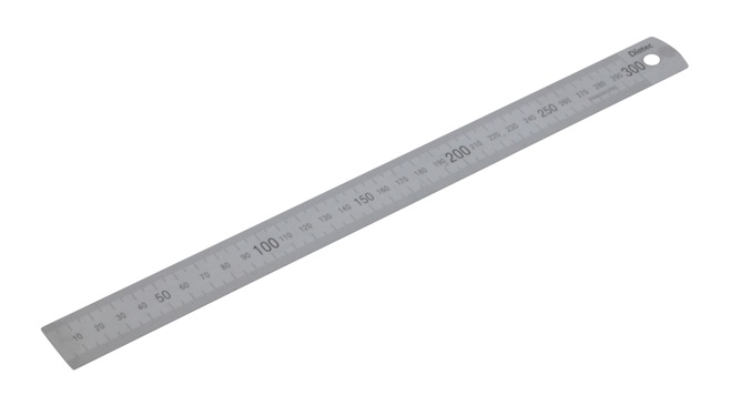 Diatec Metric Stainless Steel Rule - 300mm