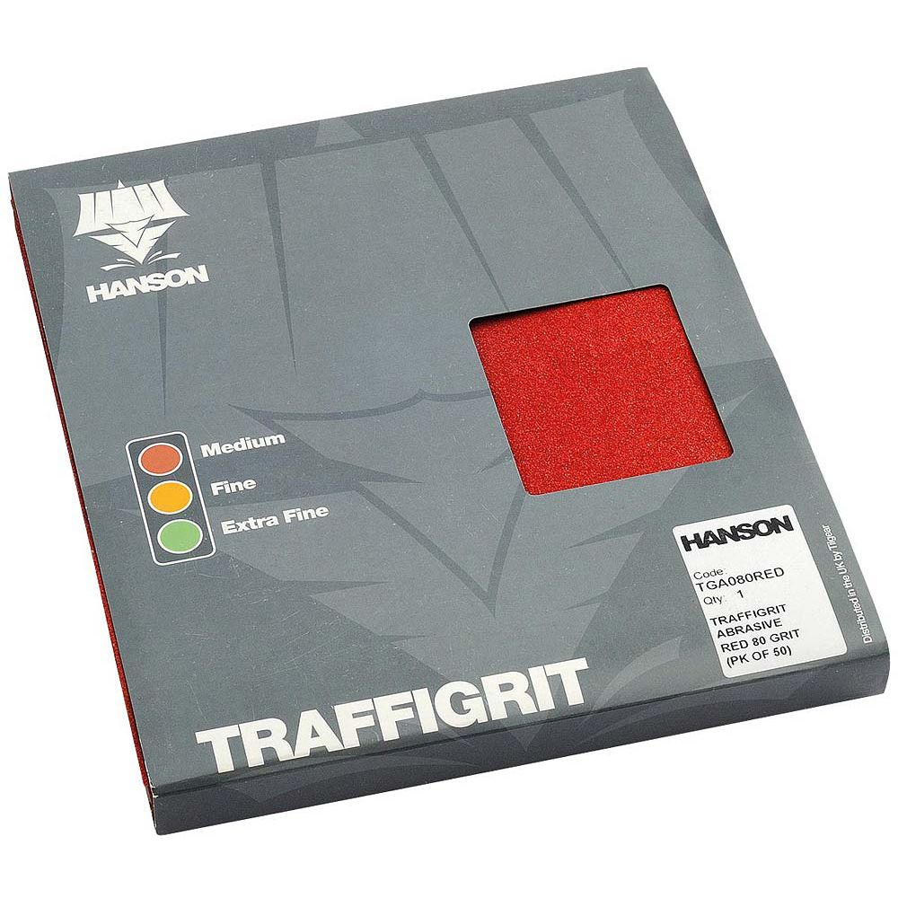 Traffigrit Abrasive Red 80 Grit (pk of 50)