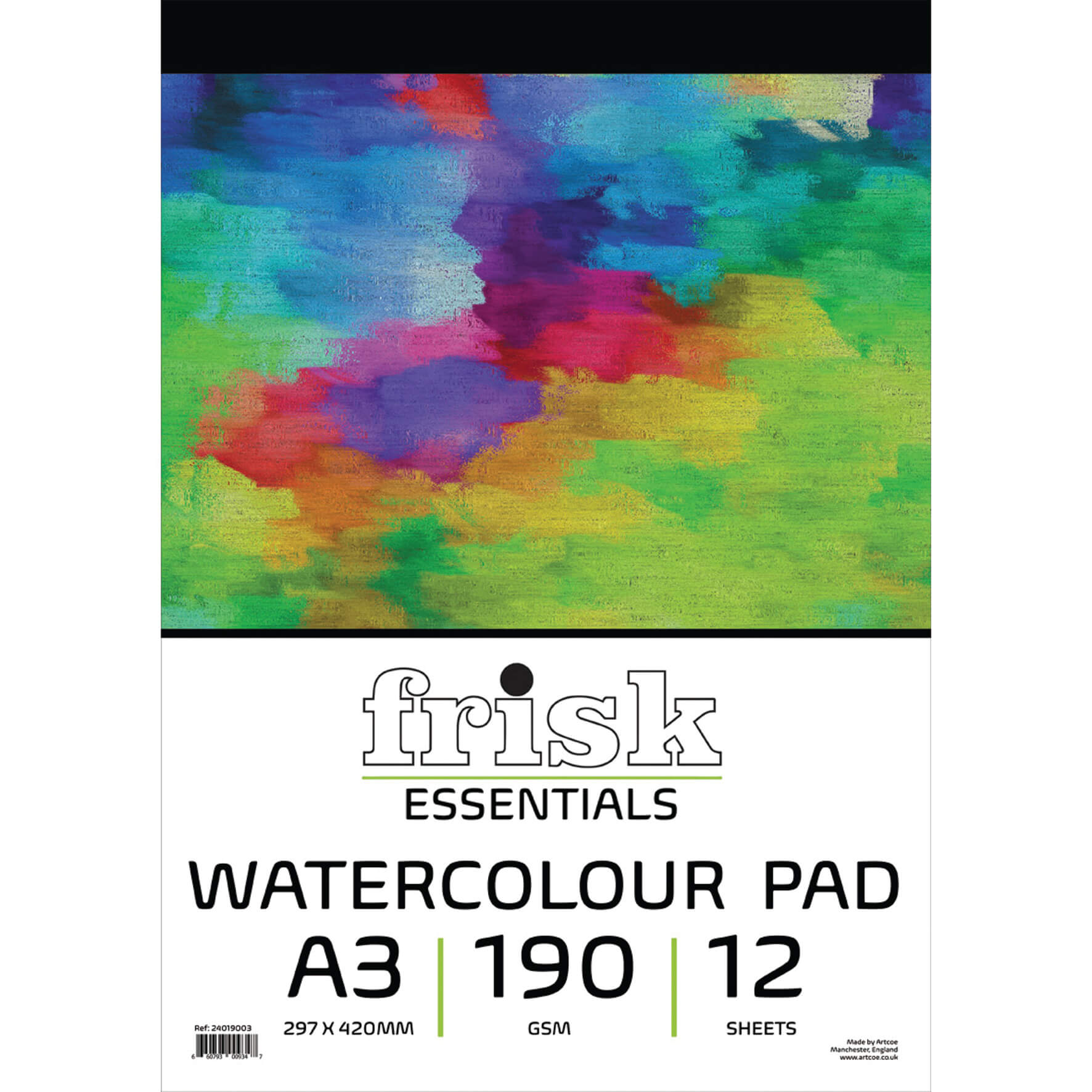 Watercolour Paper Pad A3 190gsm - 12 Sheets