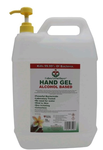 Alcohol Hand Sanitiser Gel - 4x 5 litre