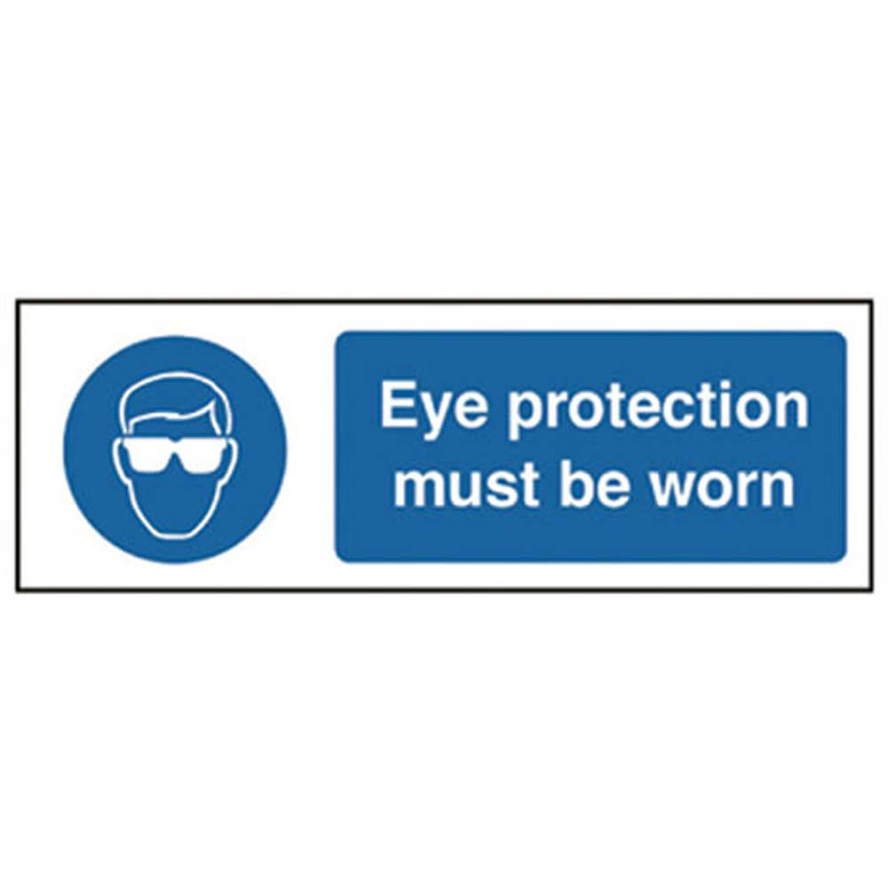 Eye Protection Must Be Worn R/P 300 x 100mm