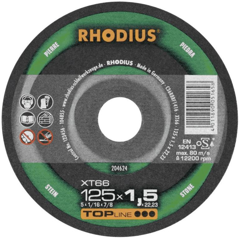 (t) Rhodius Extra Thin Abrasive Cutting Disc Disc XT66 - 230mm For Stone & Titanium