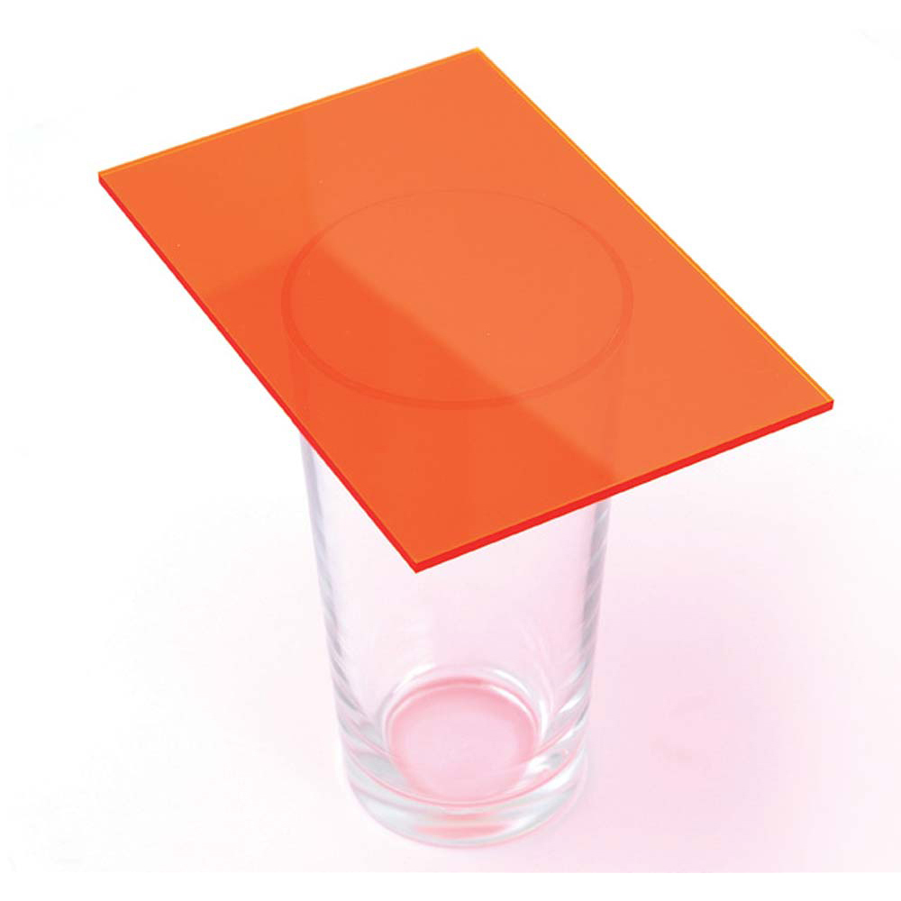 Fluorescent Cast Acrylic 3mm Sheet - Neon Orange 600 x 400mm