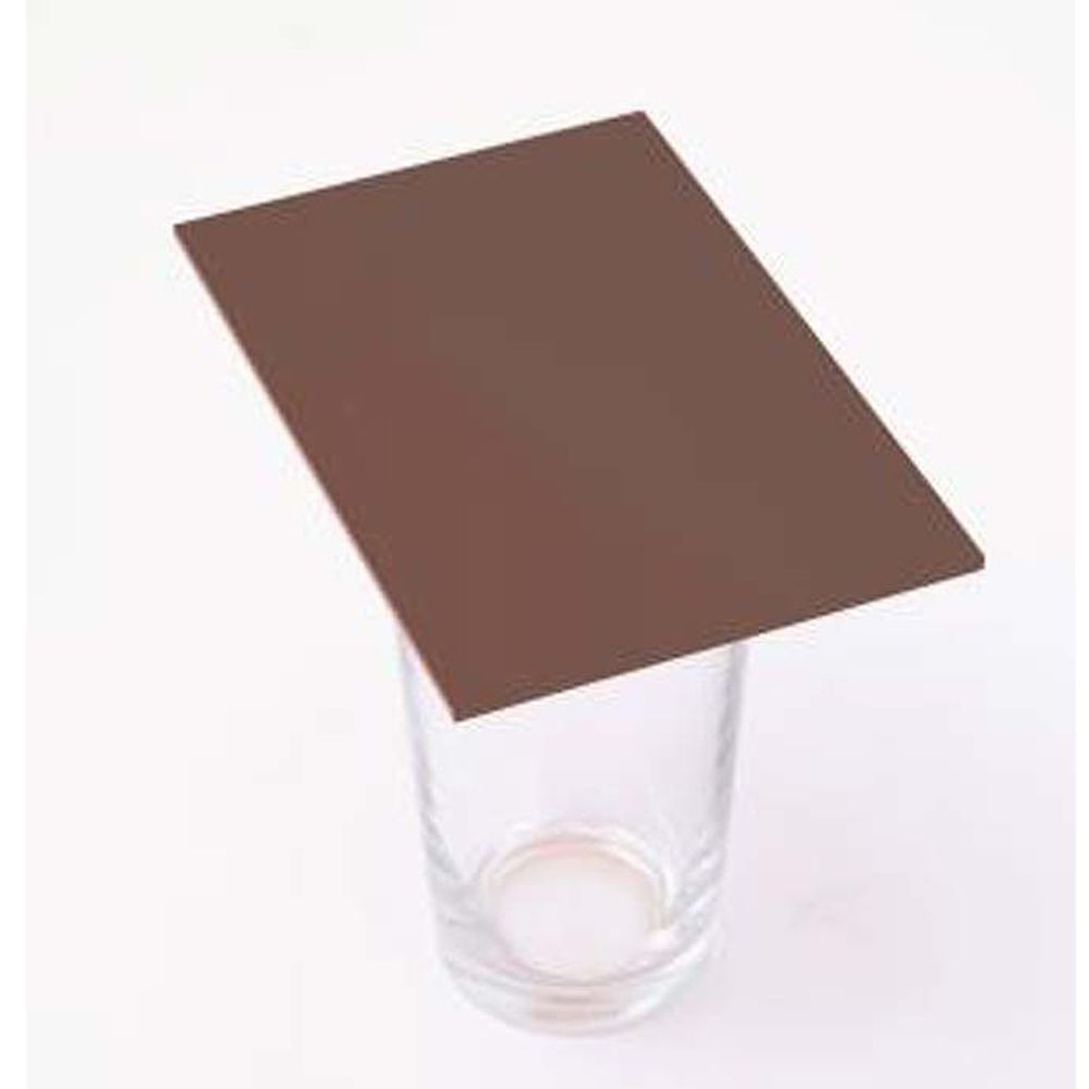 Cast Acrylic 3mm Sheet - Solid Brown  600 x 400mm