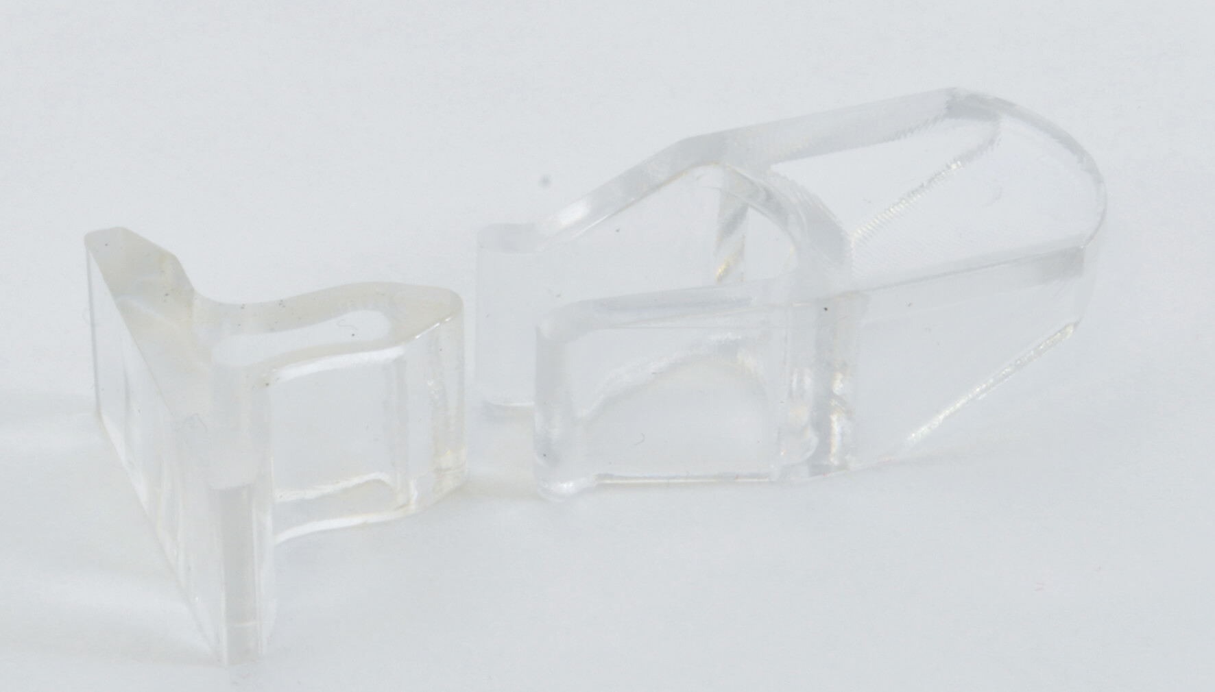 Clear Acrylic Door Catches - Pack of 10