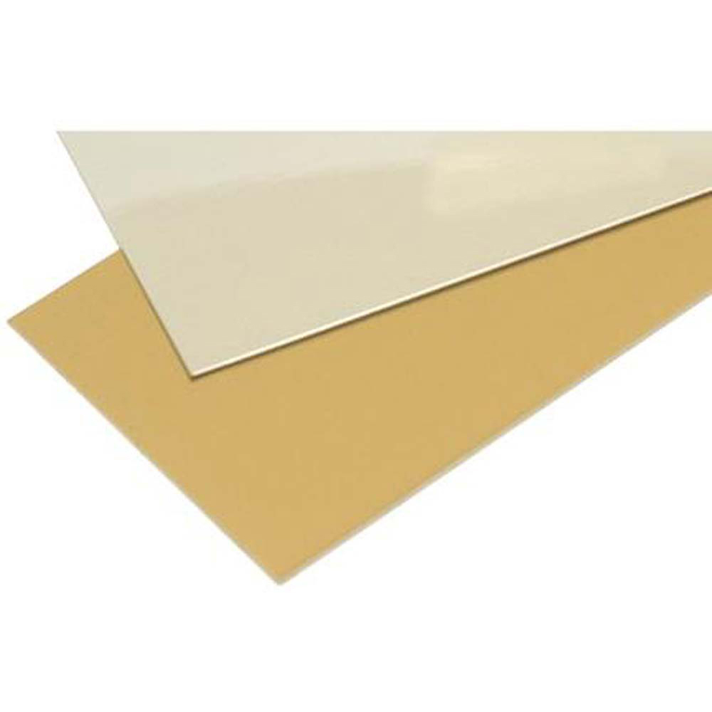 Anodised 0.5mm Aluminium Sheet (Single Sided) - 300 x 300mm - Gold