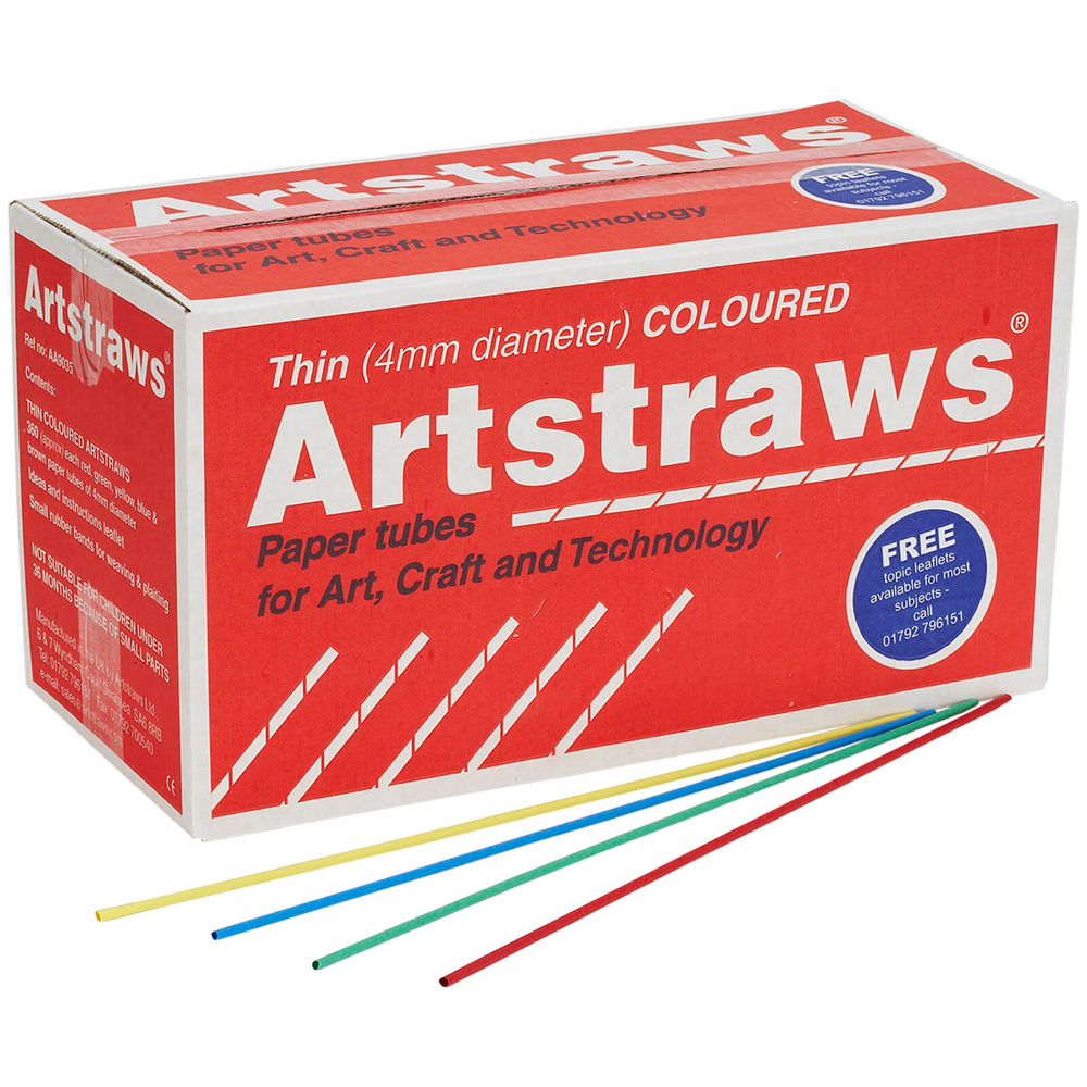 Artstraws Assorted Colours 4mm - pack of 1800