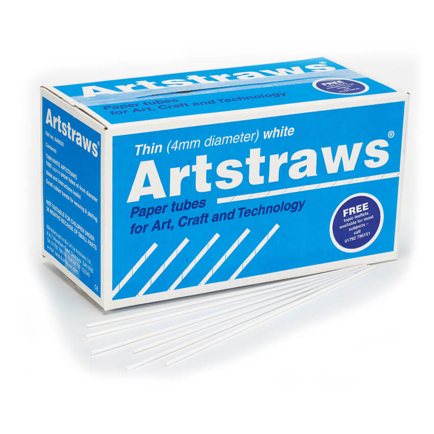 Artstraws White 4mm - pack of 1800