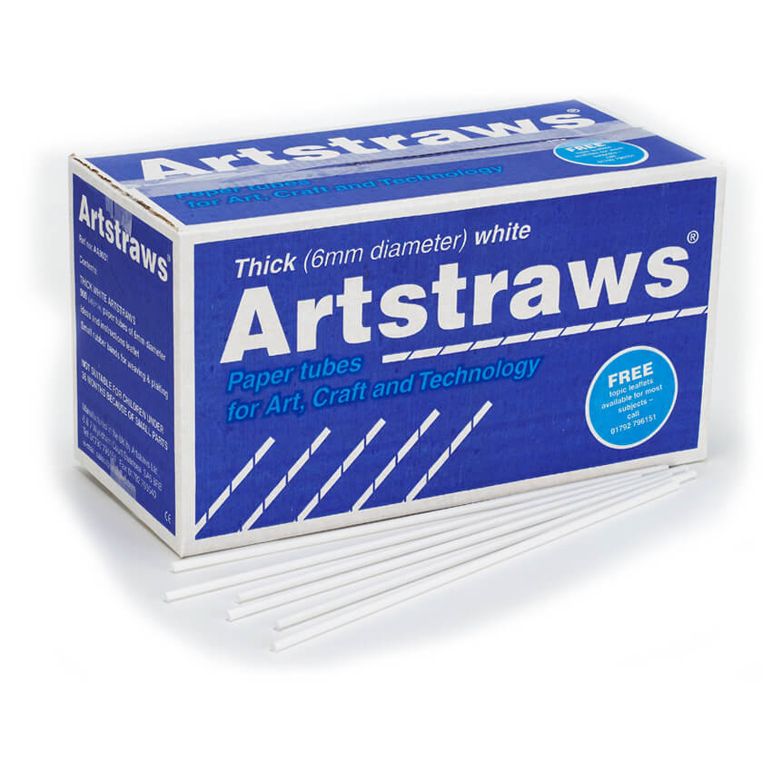 Artstraws White 6mm - pack of 900