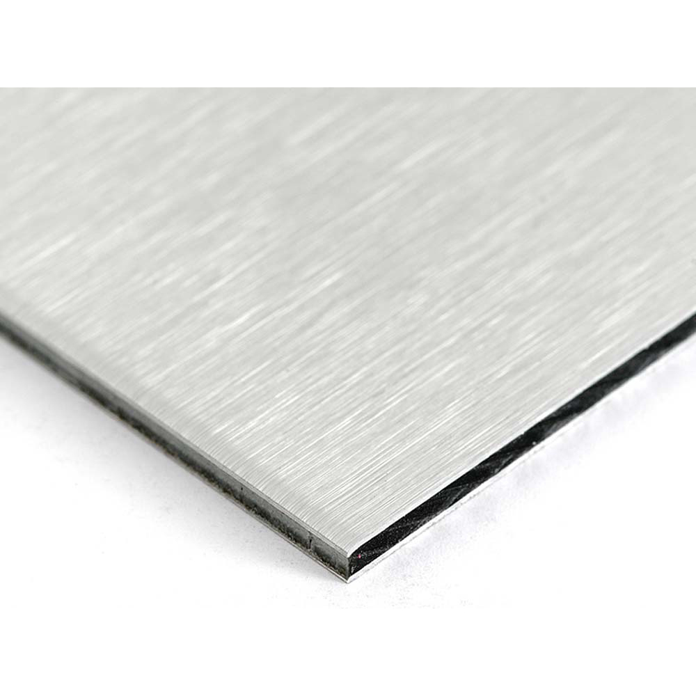 Brushed Aluminium Composite Sheet 605 x 1220mm