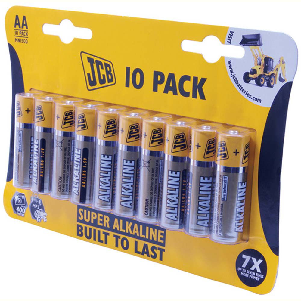 JCB Alkaline AA Battery - Pack Of 10