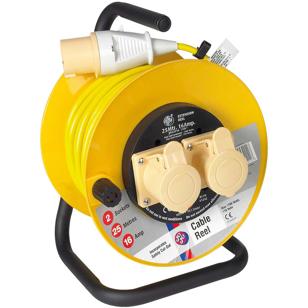 Jojo Cable Reel 25m /16 Amp/110 V