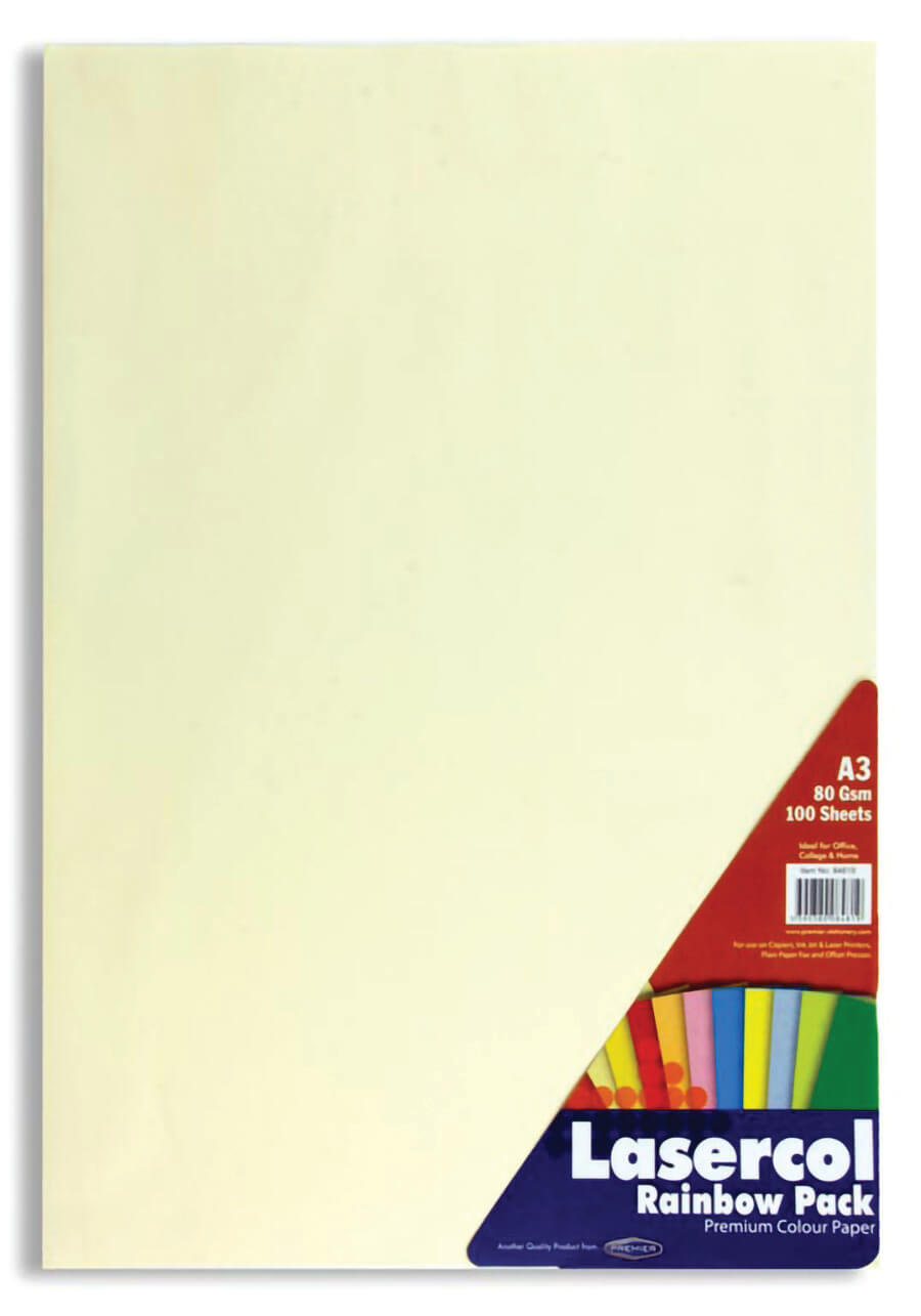 Colour Paper Rainbow Bright A3 80gsm - 100 Sheets