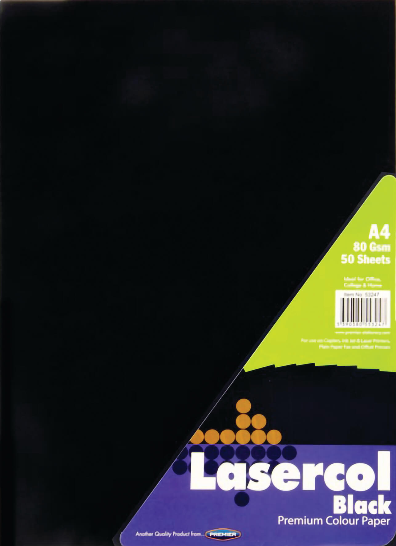 Colour Paper Black A4 80gsm - 50 Sheets