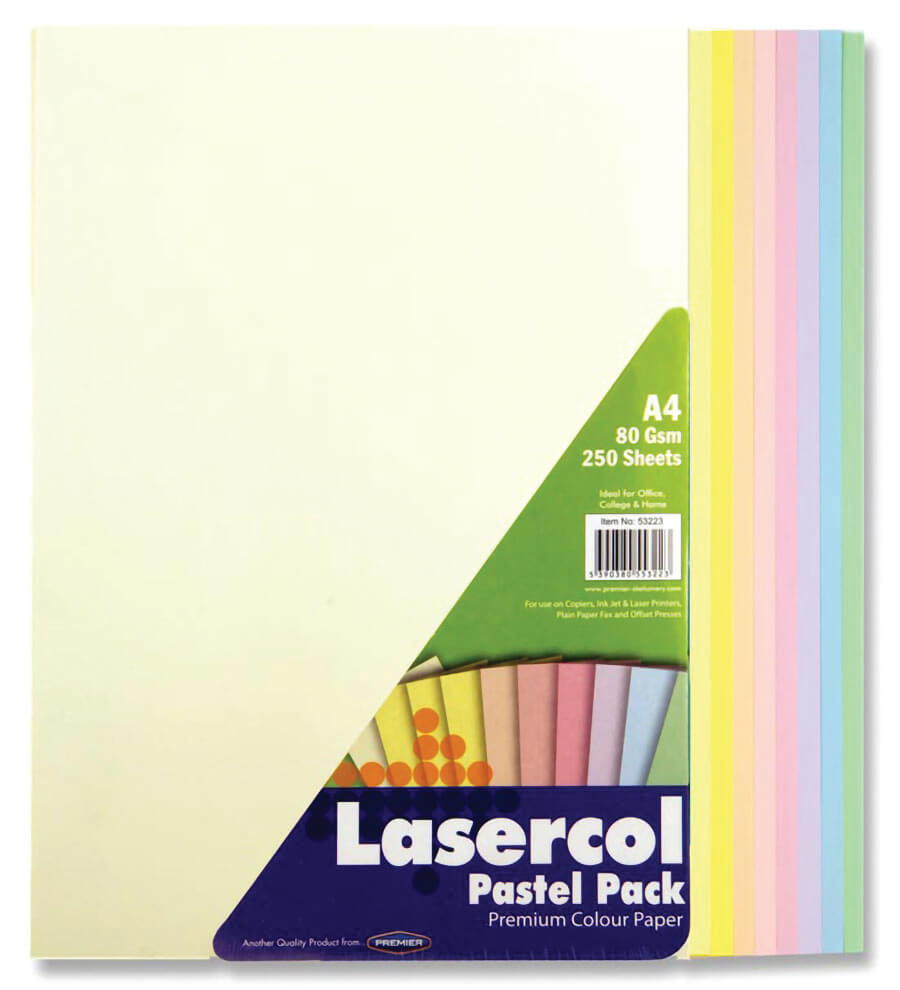 Colour Paper Rainbow Pastel A4 80gsm - 250 Sheets