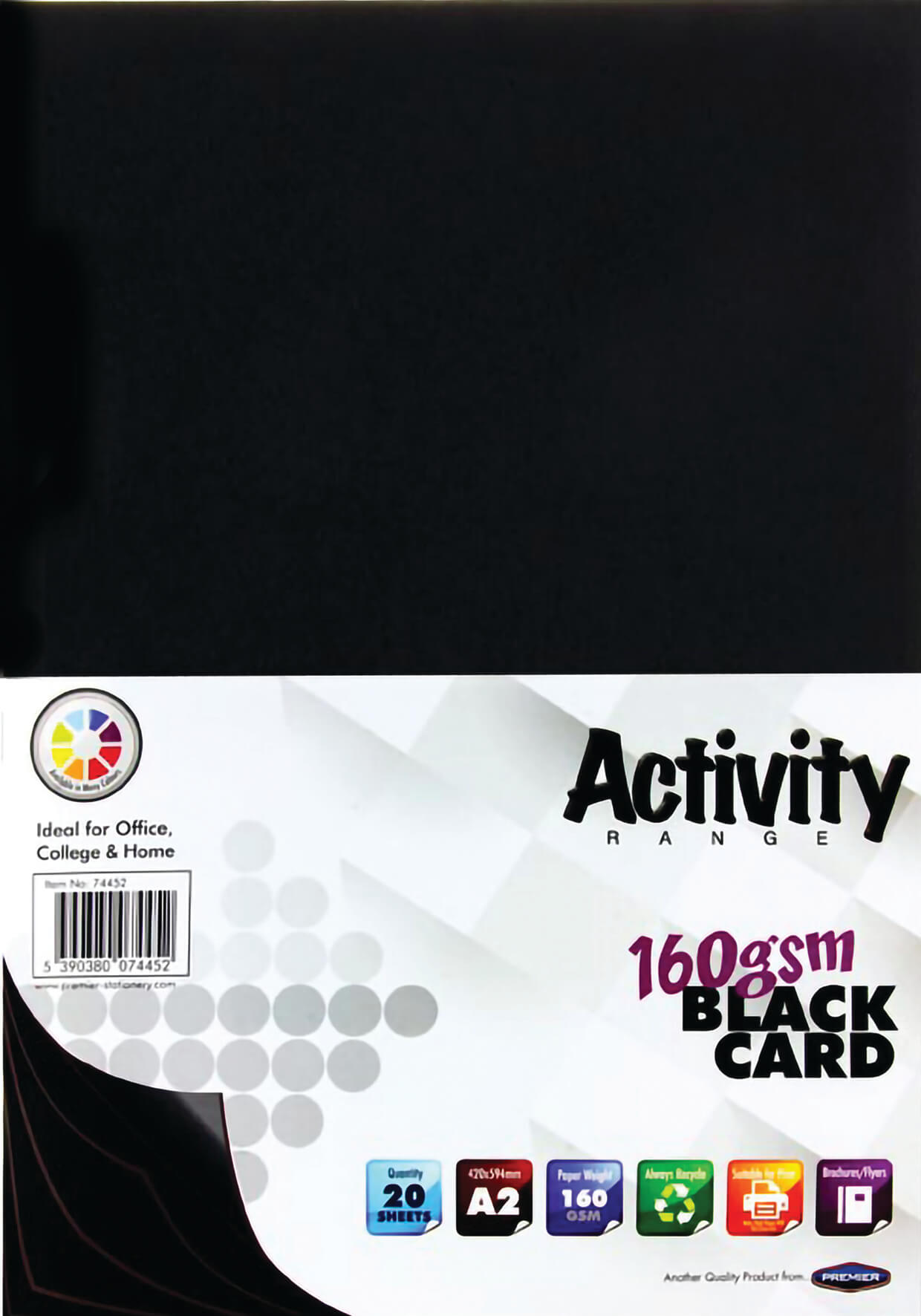 Card Black A2 160gsm - 20 Sheets