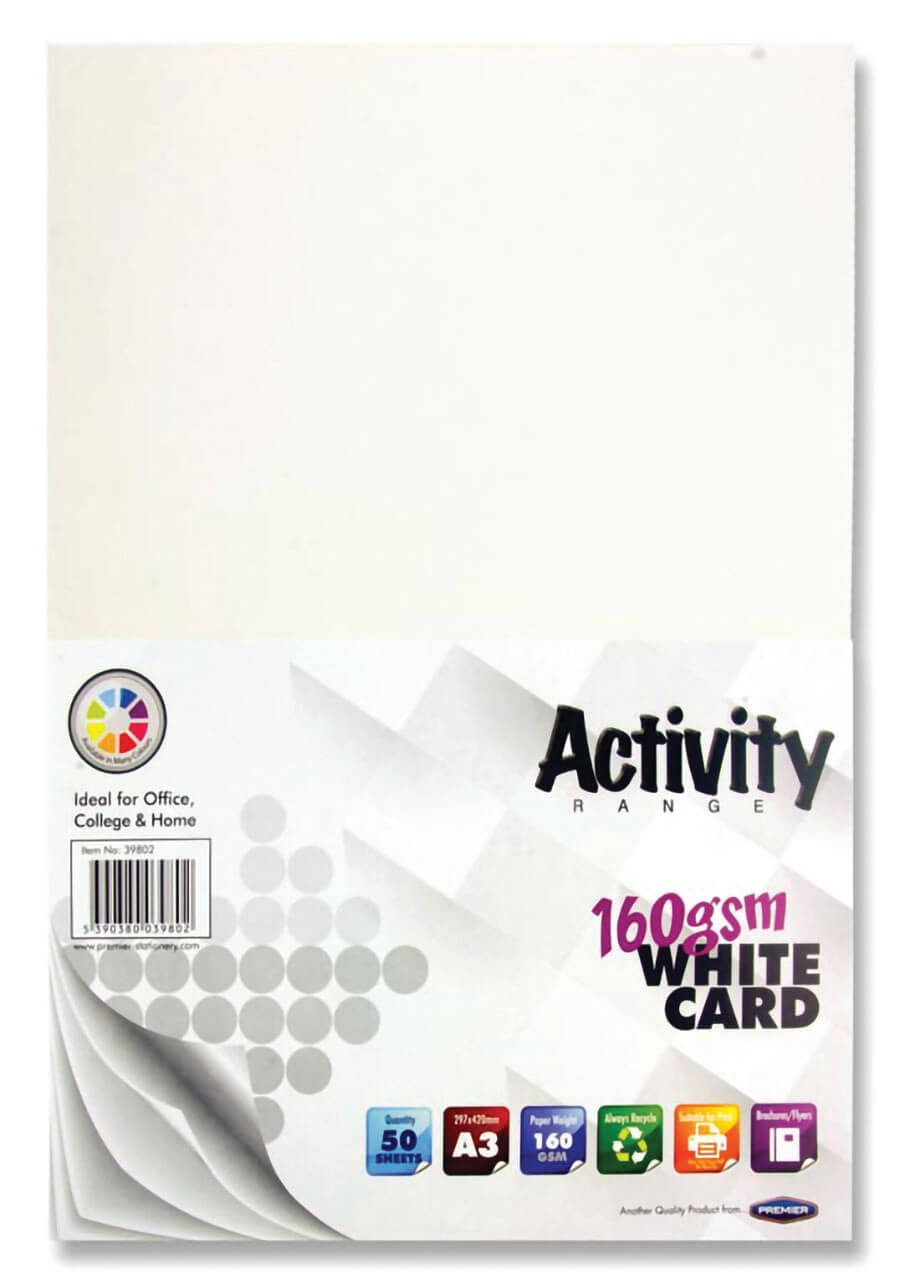 Card White A3 160gsm - 50 Sheets