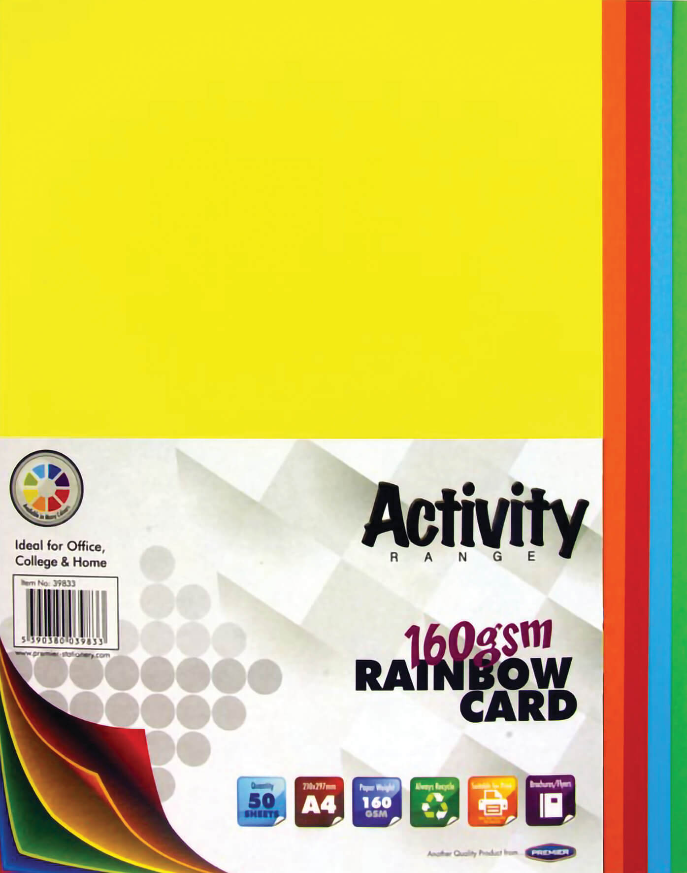 Card Rainbow A4 160gsm - 50 Sheets