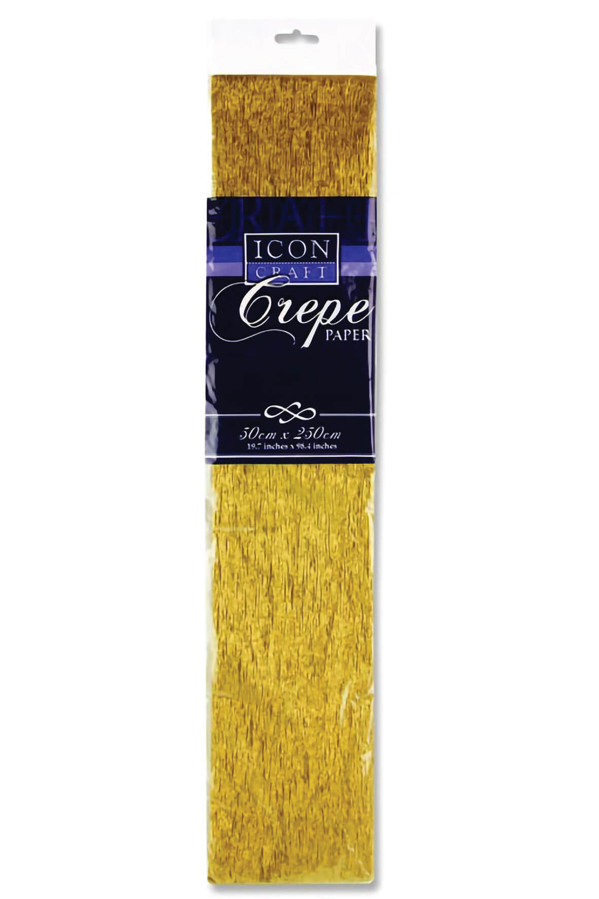Crepe Paper Gold 500mm x 2.5m 17gsm