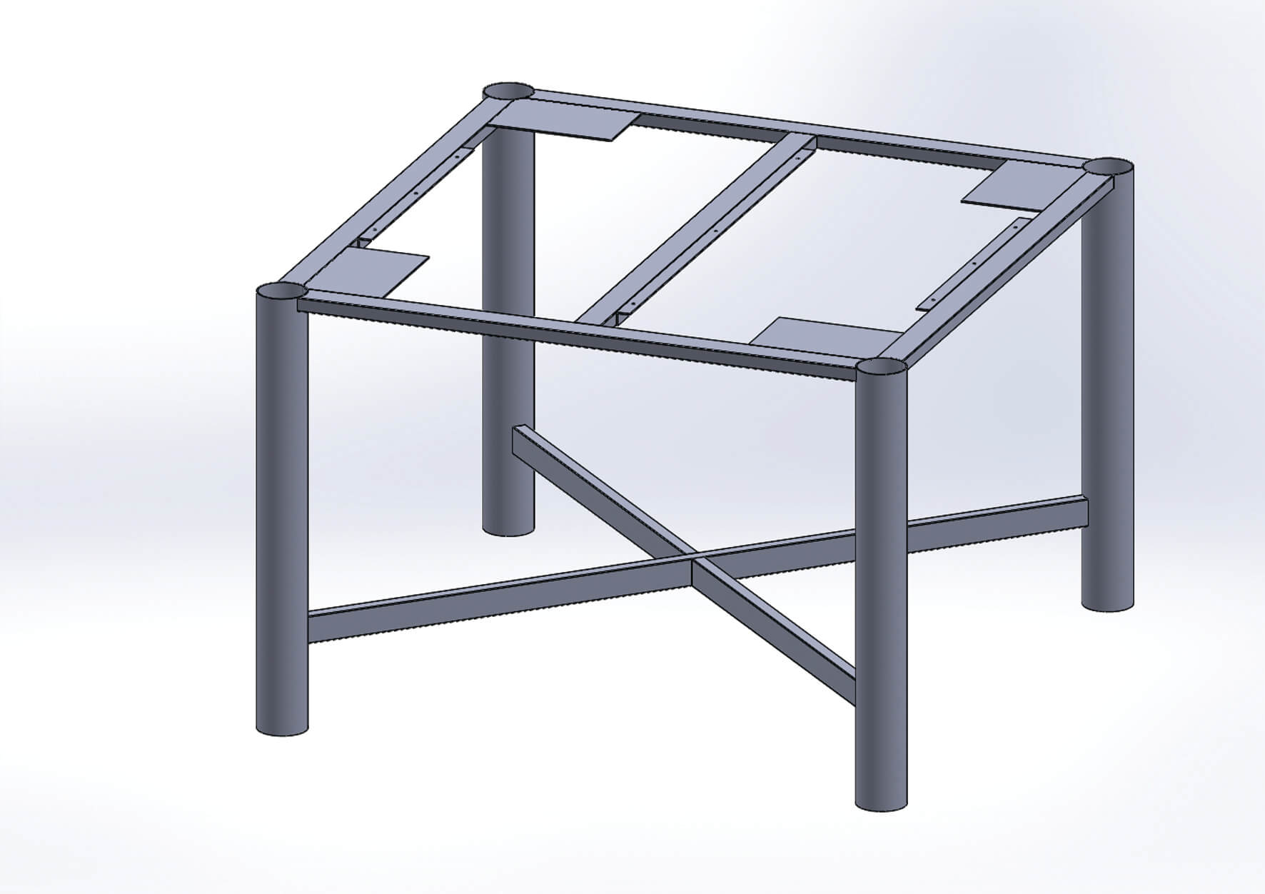 Heavy Duty Metal Bench Frame