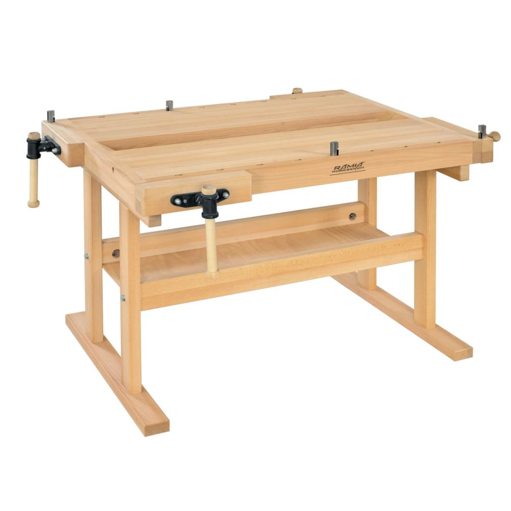 Edubench Traditional 2 Station Bench 1540mm x 1140 x 850 (Inc Vices)