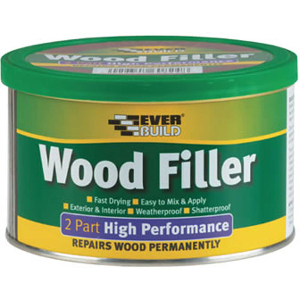 Everbuild Two Part Wood Filler - Light Stainable - 500g