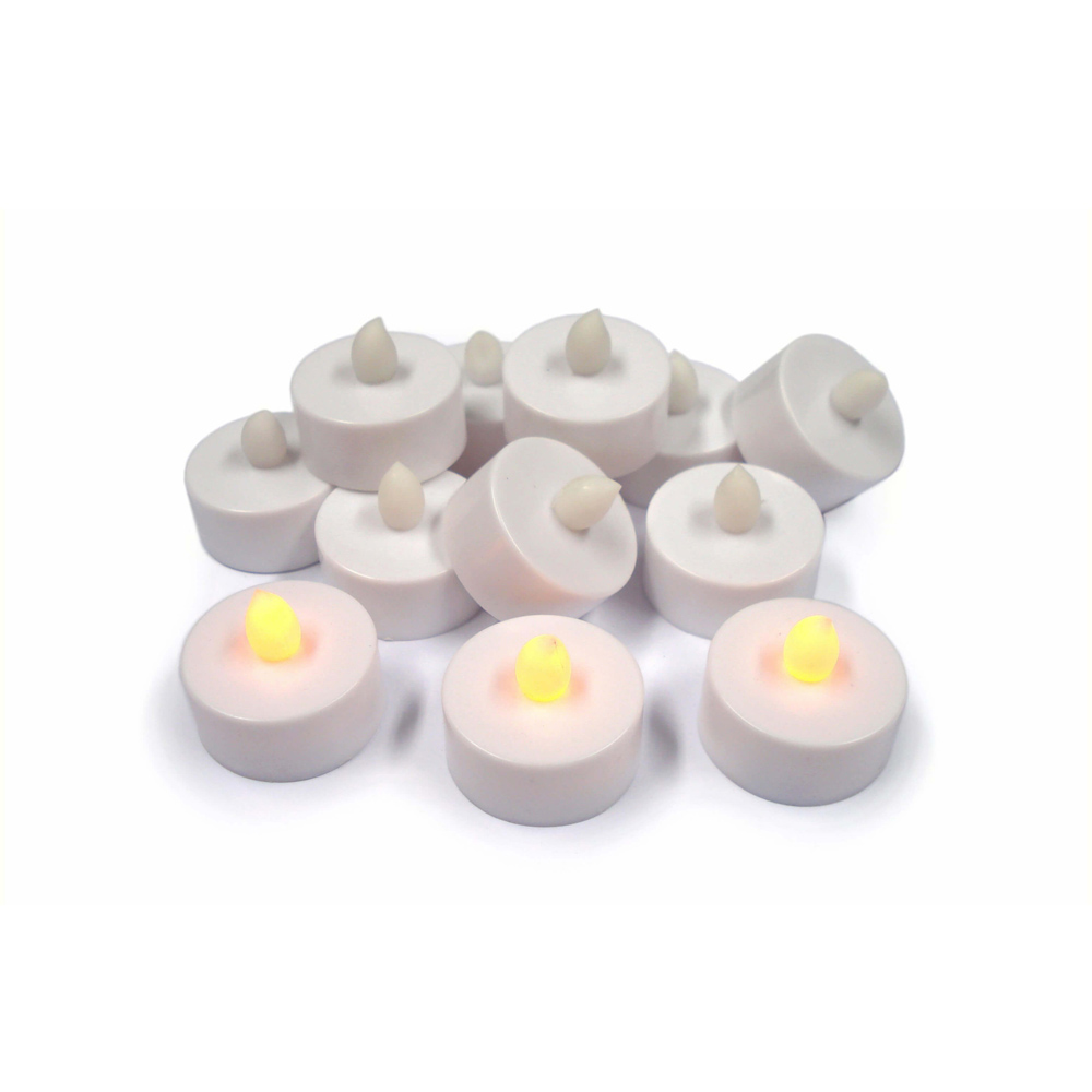 LED Flickering Tealight - Pack 12