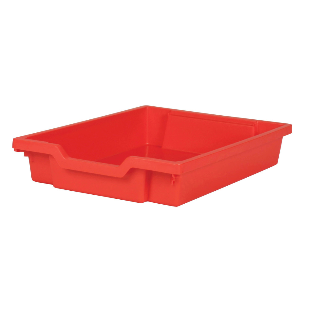 Gratnells Shallow Tray - Red  H75mm x W312 x D427
