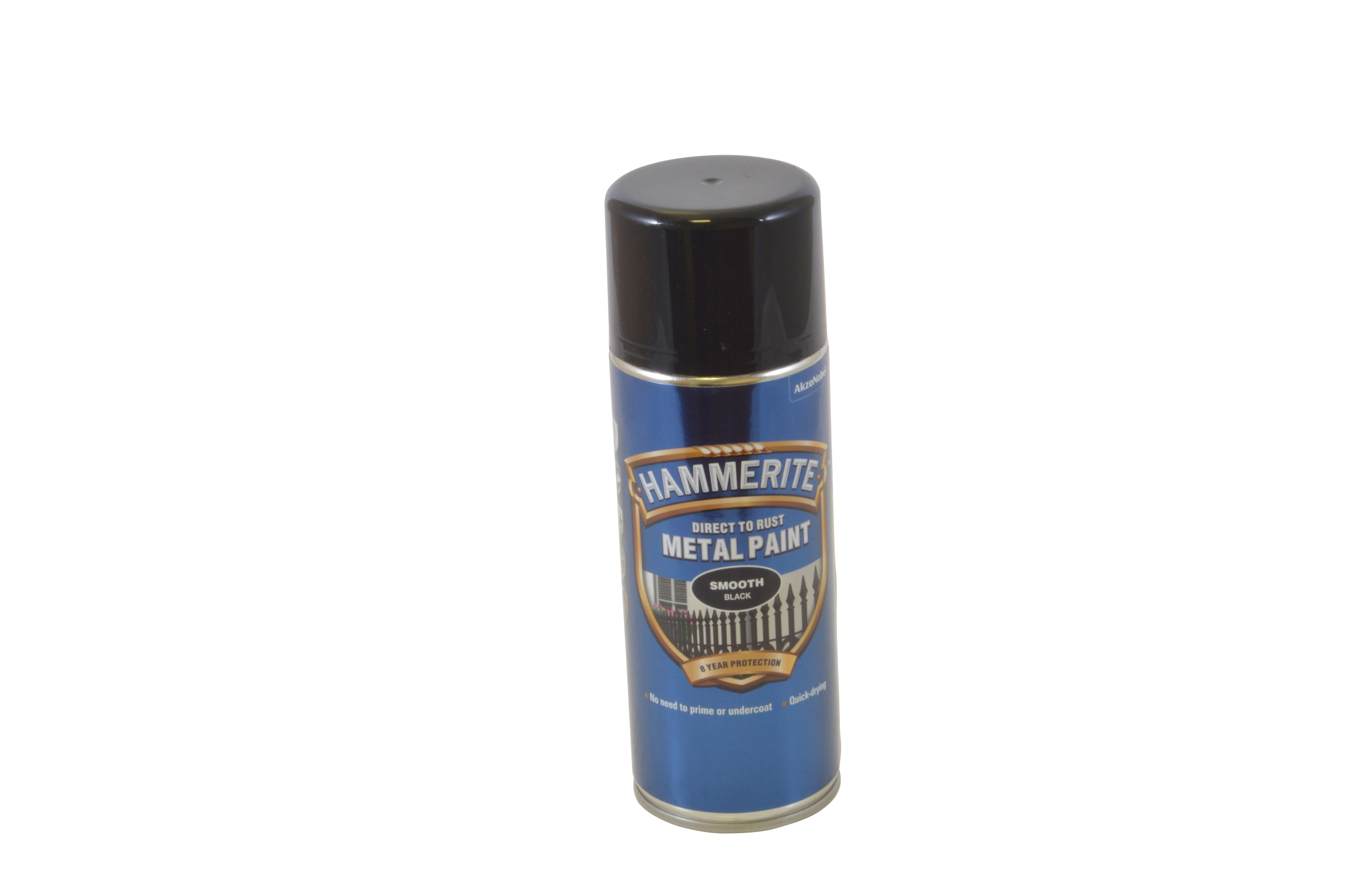 Hammerite Aerosol 400ml - Black Smooth Finish
