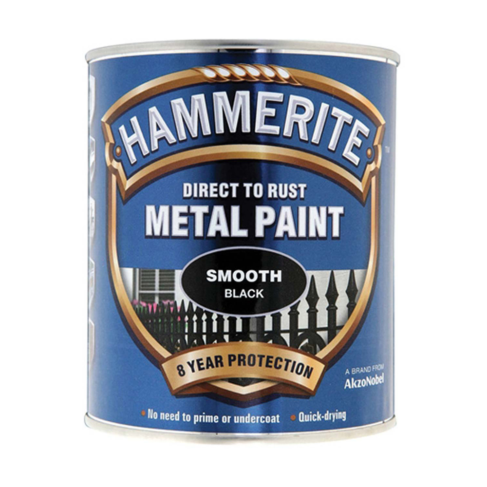 Hammerite 750ml - Black Smooth Finish
