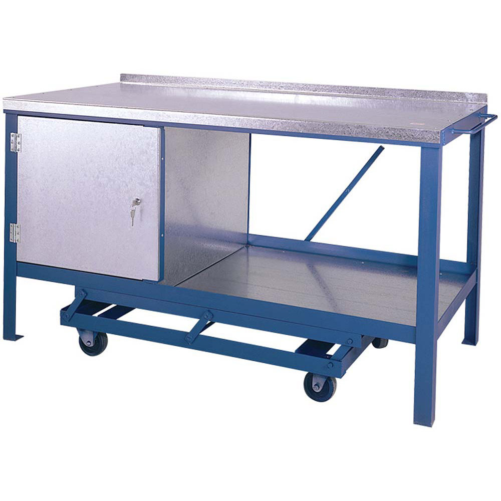 Edubench Mobile Heavy Duty Bench - with single cupboard 1200 x 750mm
