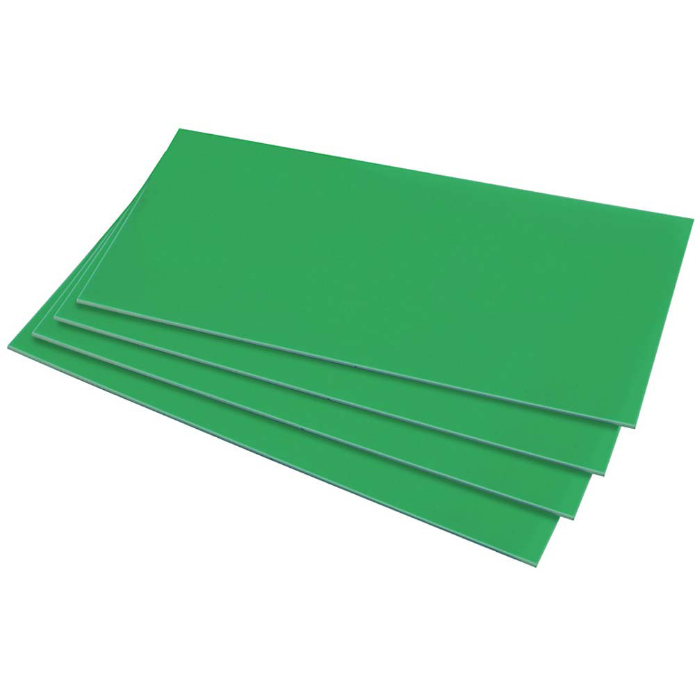 HIPS 1.5mm Sheet  - 254mm  x 457mm - Green