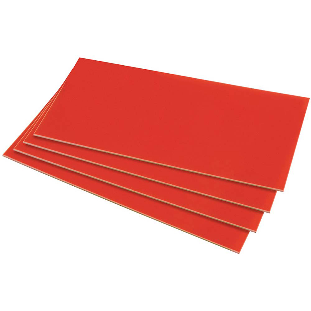 HIPS 1.5mm Sheet - 254mm x 457mm - Red