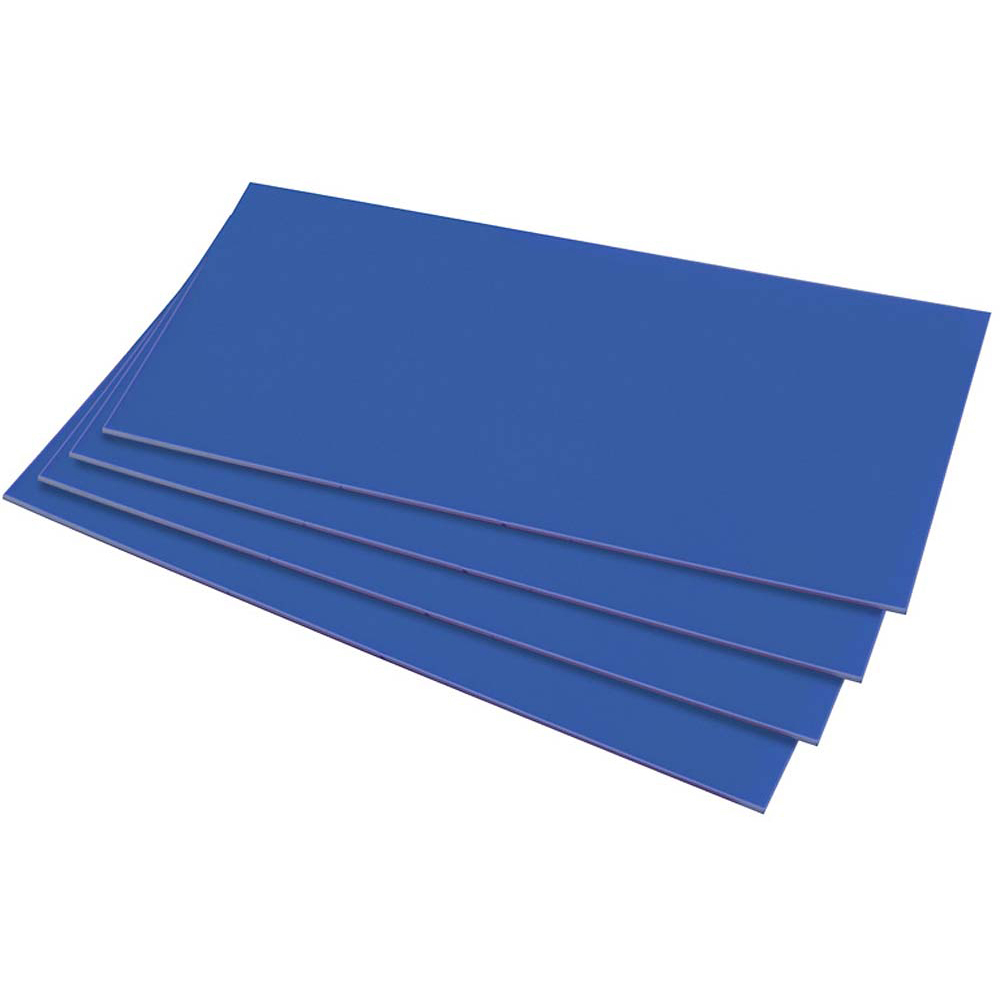 HIPS 1.0mm Sheet - 610 x 457mm - Mid Blue