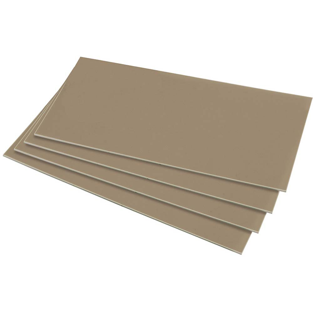 HIPS 1.0mm Sheet - 610mm  x 457mm - Silver Grey
