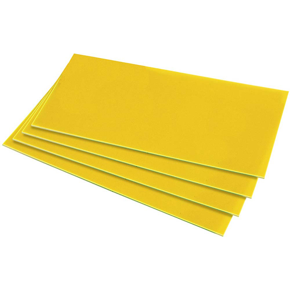 HIPS 1.0mm Sheet - 610mm  x 457mm - Yellow