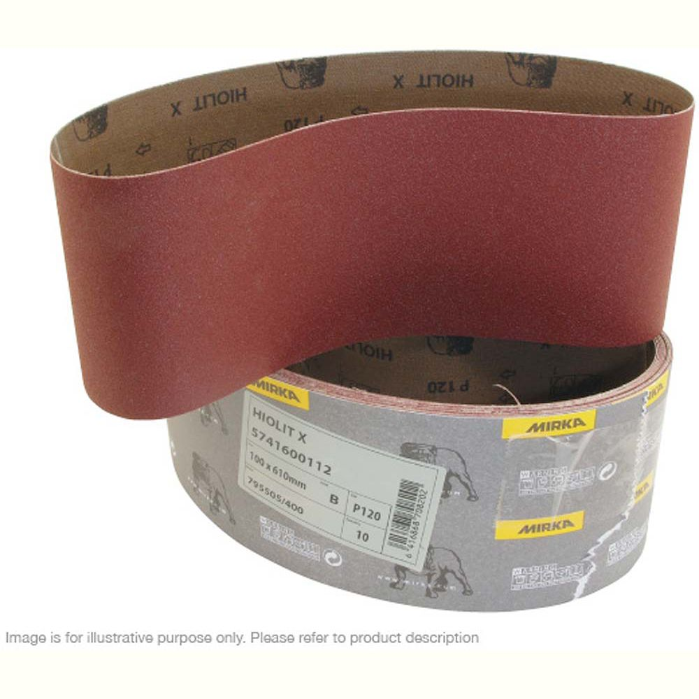 Resin Bonded Belts 1220 x 100mm 120 Grit - Pk 10