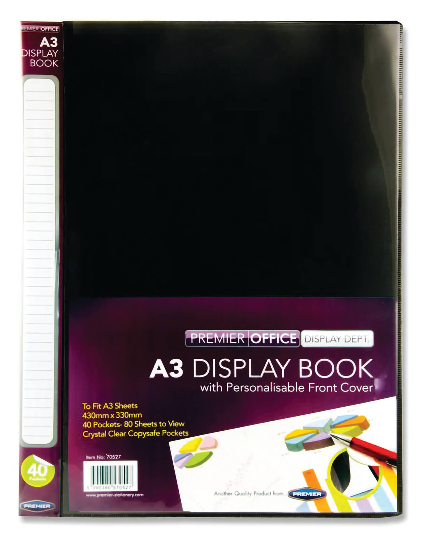 Presentation Display Book Black, A3 - 40 Pocket
